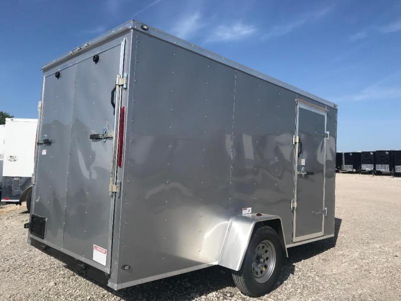 "6x12 6'3"" interior ramp Texas Select enclosed trailer Enclosed Cargo Trailer"