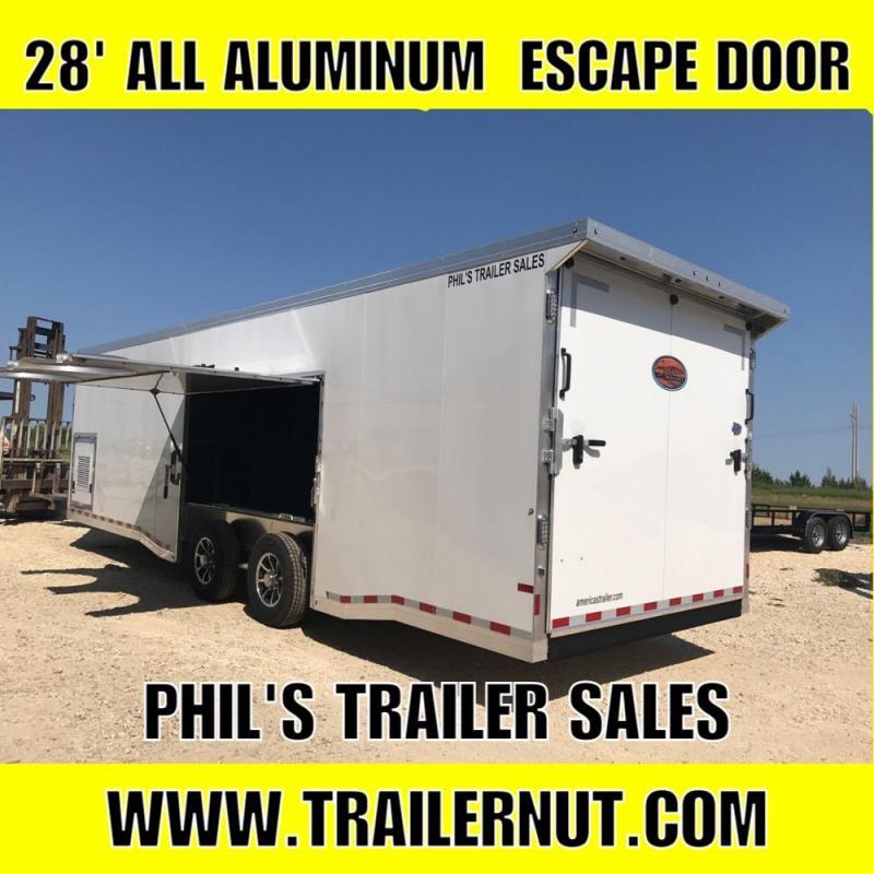 28 ALL ALUMINUM 7 ft Escape door Car / Racing Trailer