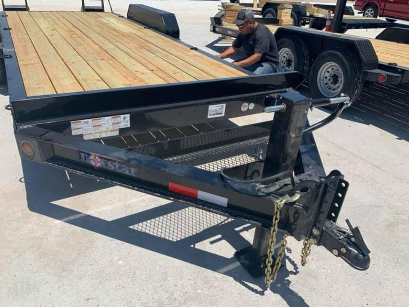 20 Norstar HEAVY DUTY Equipment Trailer POWDER COATED FLIP UP RAMPS