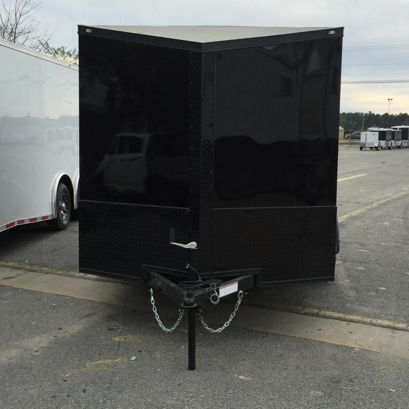 Enclosed Trailer 7x12  Slant Nose Chromed Out Trailer