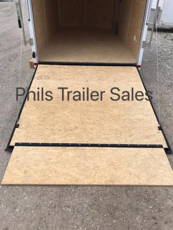 "6x12 + 24"" v nose 6'6"" Pace American ramp Enclosed Cargo Trailer"