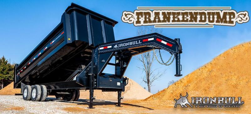 2020 8X20  12000 AXLES Iron Bull FRANKEN DUMP Dump Trailer