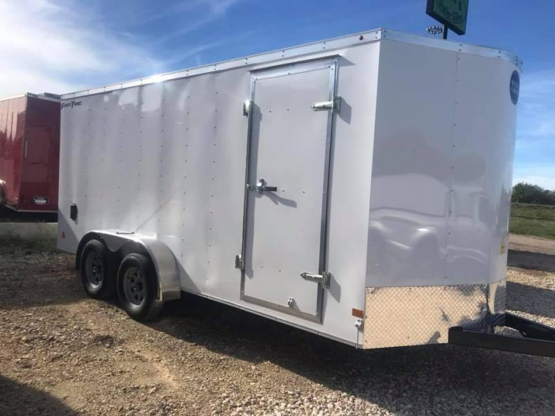 Wells Cargo 7x16 + v  7 ft FT INTERIOR HT DOUBLE DOOR