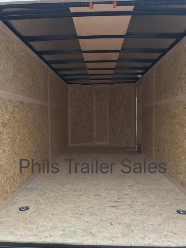 Wells Cargo 7x16 + v  7 ft FT INTERIOR HT DOUBLE DOOR