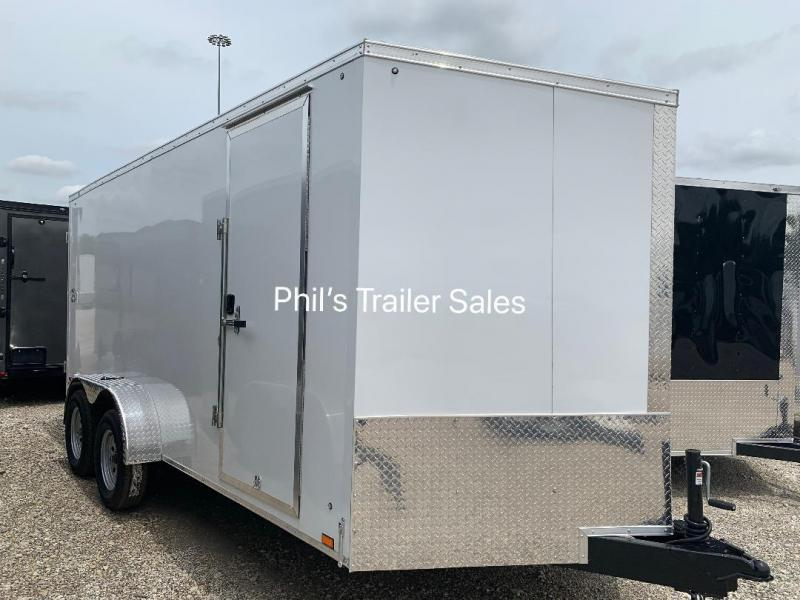 7X16 + 30 SLANT NOSE SCREWLESS  Pace SE model UPGRADED Enclosed Cargo Trailer