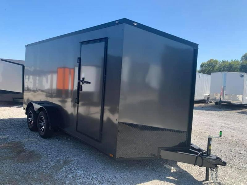 Enclosed trailer 7x16 + SLANT v nose DELUXE  CARGO Enclosed Cargo Trailer