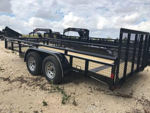 UTILITY TRAILER FLATBED   EXPANDED METAL SIDES Lamar Trailers UT 83x16 Utility Trailer POWDER COATED  TRAILERS