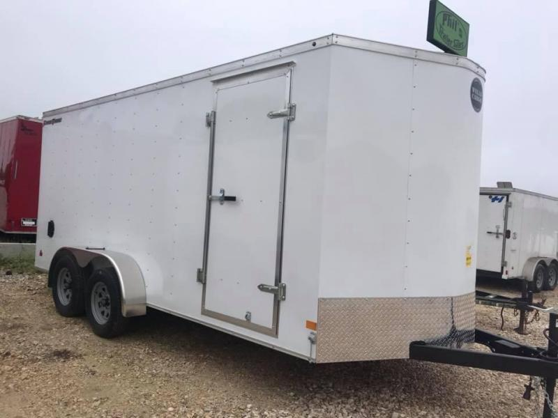 Wells Cargo 7x16 + v Enclosed Trailer Cargo Trailer