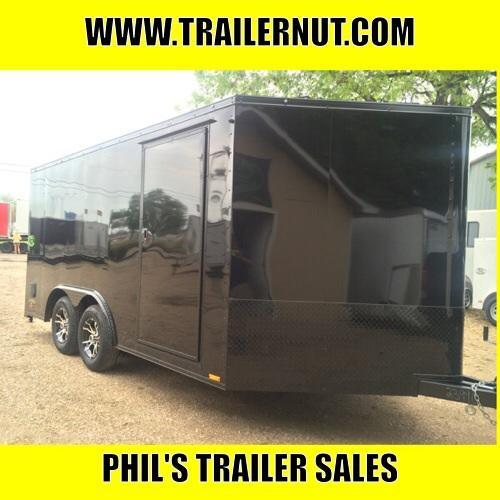 MOTORCYCLE TRAILER  8.5x14+ 3 v  BLACKED OUT LOADED Motorcycle Trailer ENCLOSED TRAILERS