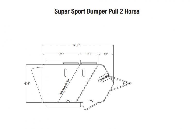 Sundowner Trailers Super Sport 2 Horse Slant Horse Trailer