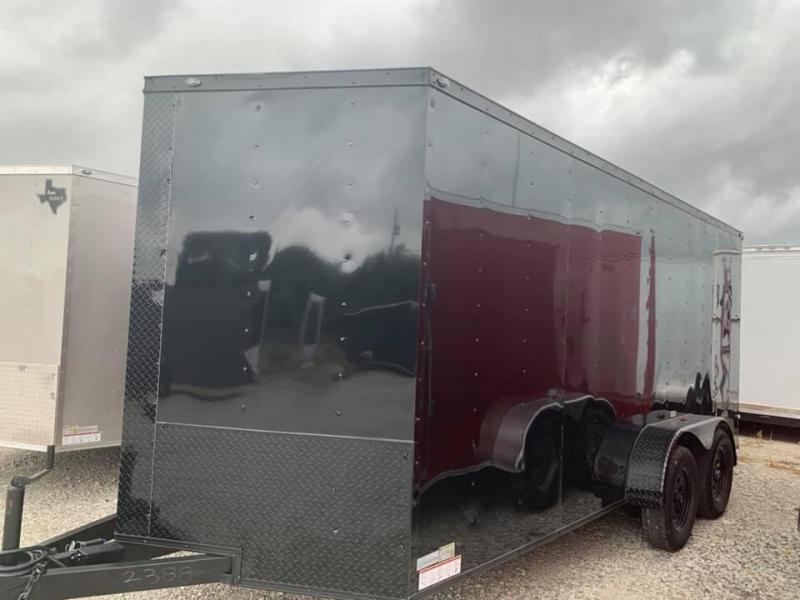 "ENCLOSED TRAILER 7x16 2 v nose 6'6"" interior  BLACKOUT Enclosed Cargo Trailer"