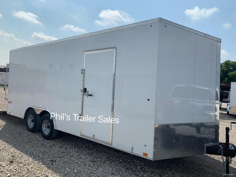8.5X20  Pace American 7 FT INTERIOR 5200 LB AXLES Slant Nose Enclosed Cargo Trailer