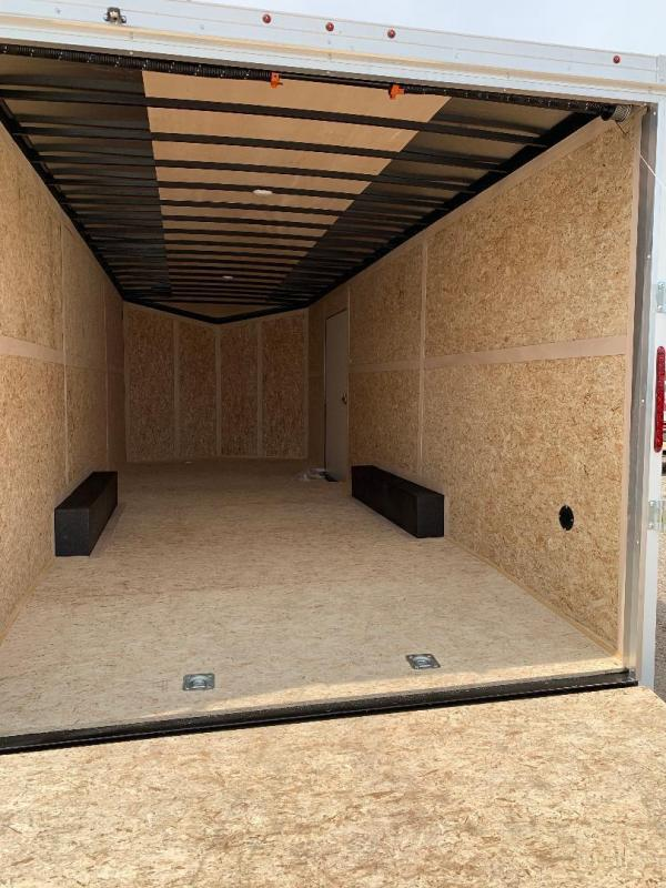 Wells Cargo 8.5X16 + V 7 FT interior COMMERCIAL GRADE ROAD FORCE Enclosed Cargo Trailer