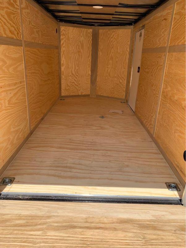 2021 Continental Cargo 6X12 RED Enclosed Cargo Trailer
