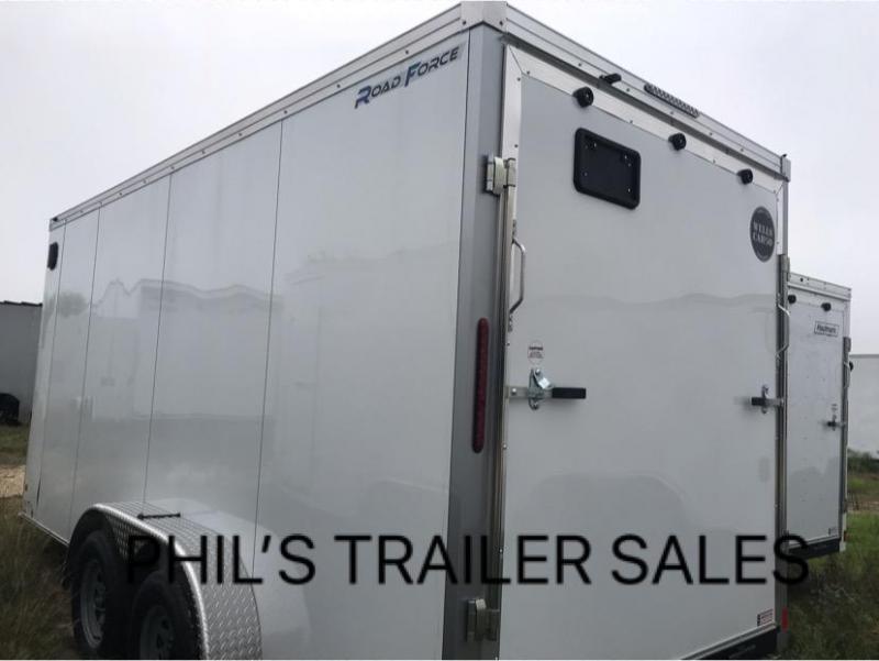 Wells Cargo 7X16 + V  INTERIOR COMMERCIAL GRADE ROAD FORCE Enclosed Cargo Trailer