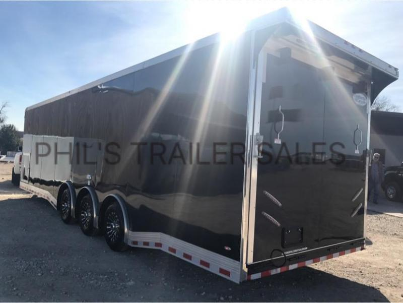34 CABINETS DOWN SIDE WALL  Continental Cargo AUTO MASTER Car / Racing Trailer