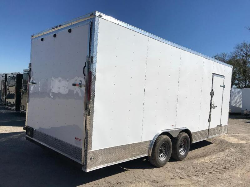 85x20 + 2 v nose 7 FT INTERIOR 5200 LB AXLES  Car hauler Enclosed Cargo Trailer
