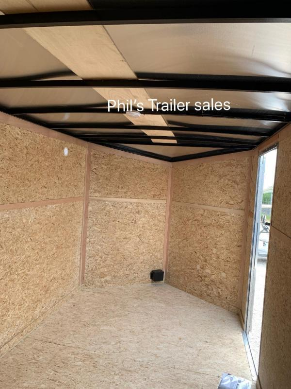 "7X14 + 30"" v NOSE Pace American TRAILER Enclosed Cargo Trailer RAMP"