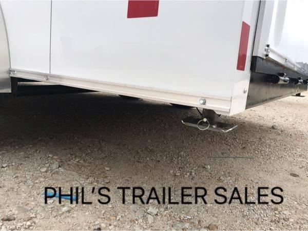 Wells Cargo DOUBLE DOORS WHITE 7X14 + V 7 FT interior COMMERCIAL GRADE ROAD FORCE Enclosed Cargo Trailer