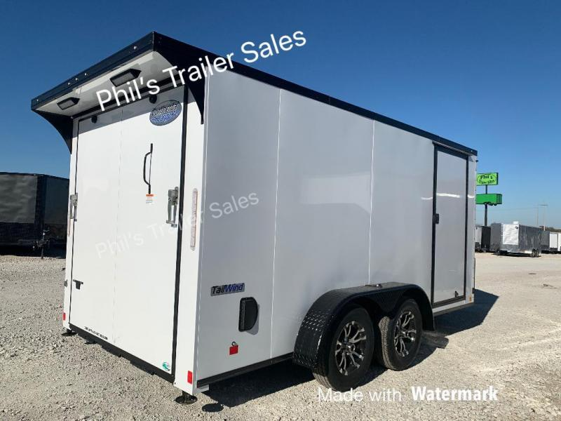 Continental Cargo 7x14 with WING BLACKED OUT MOTORCYCLE TRAILER Enclosed trailer