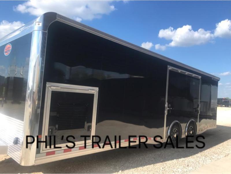 28 ALL ALUMINUM 7 ft Escape door Car hauler Race Trailer enclosed trailer