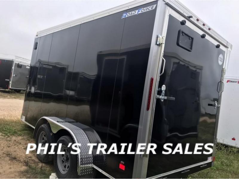 Wells Cargo 7X14 + V  INTERIOR COMMERCIAL GRADE ROAD FORCE Enclosed Cargo Trailer