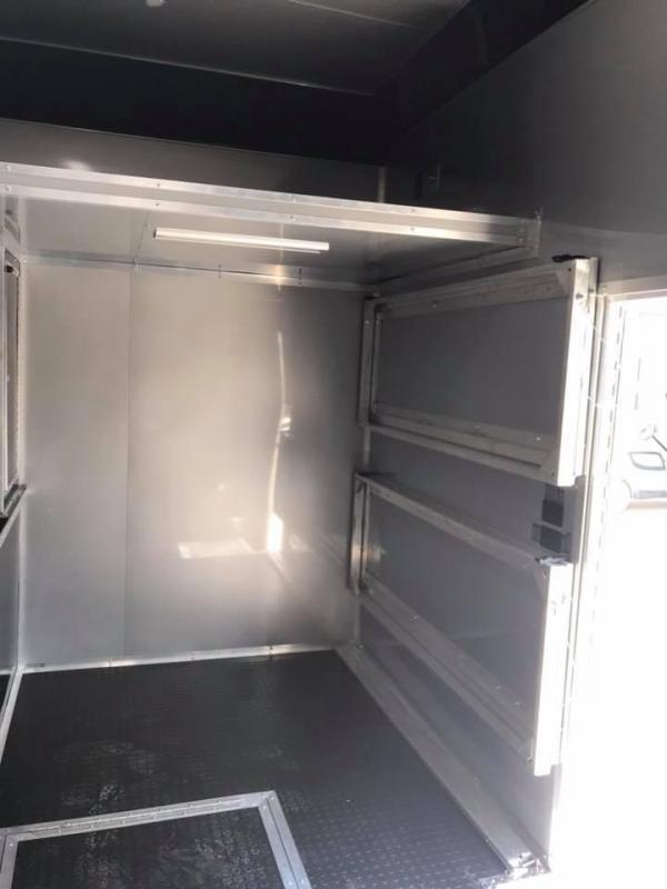 28 9 ft rear door ht  Continental Cargo Auto Master Sprint Car / Racing Trailer