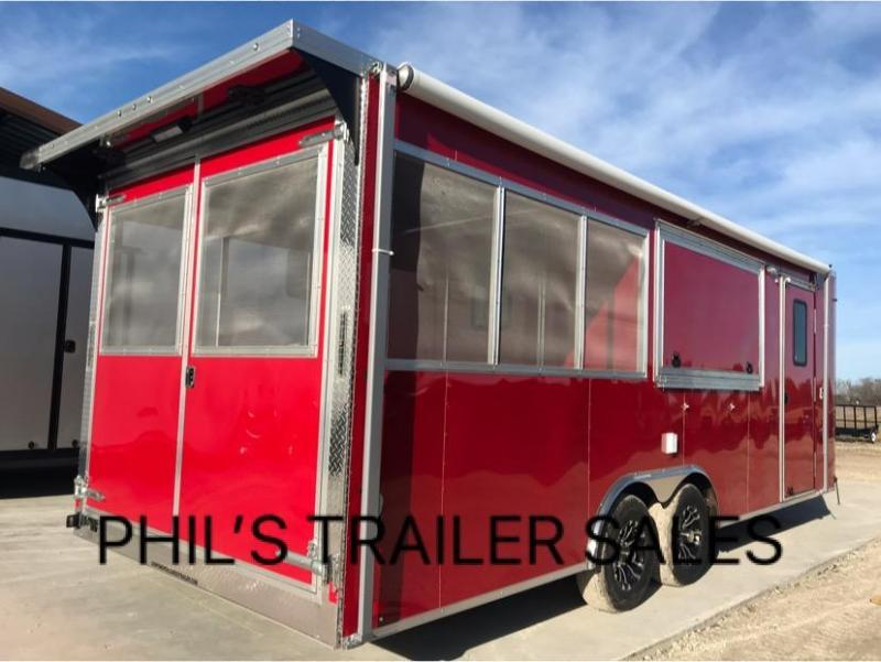 8 5 x 22 porch trailer concession loaded out Bbq trailer