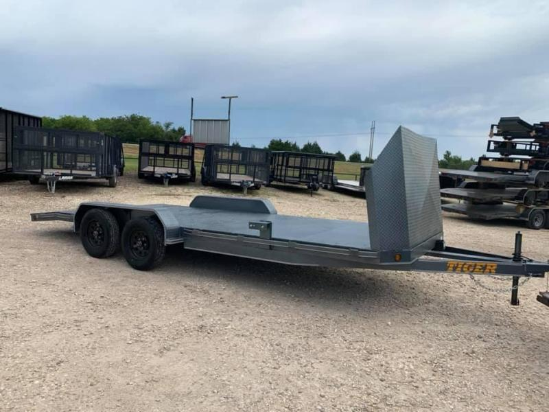 STEEL DECK CAR HAULER Car / Racing Trailer