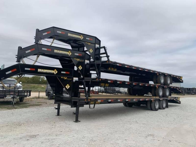 30 TANDEM DUAL DECK OVER GOOSENECK TRAILER Equipment Trailer MOSTER RAMPS