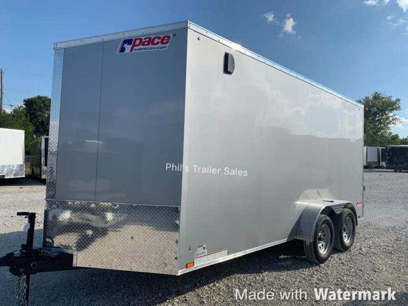 ENCLOSED TRAILER 7X16 + 30 SLANT NOSE SCREWLESS  Pace SE model UPGRADED Enclosed Cargo Trailer