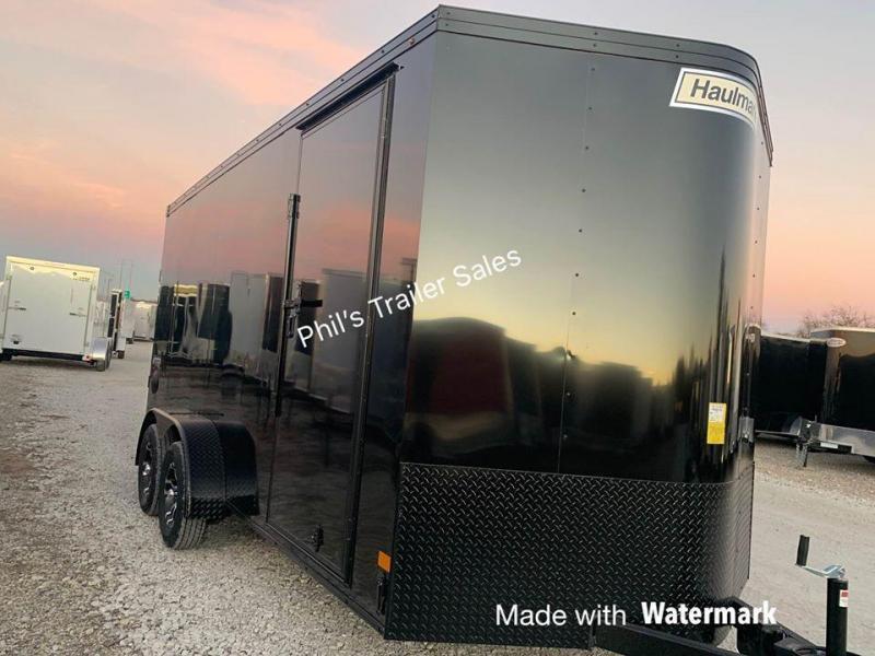 HAULMARK  7X16 + V 7 FT interior ENCLOSED TRAILER COMMERCIAL GRADE ROAD FORCE Enclosed Cargo Trailer