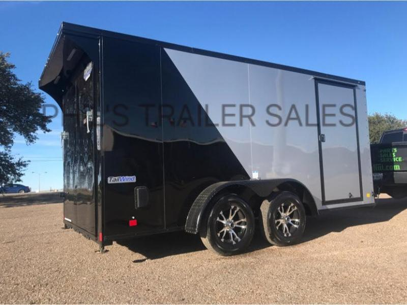 Continental Cargo 7x14+ 3 Black out motorcycle trailer Enclosed  Motorcycle Trailer