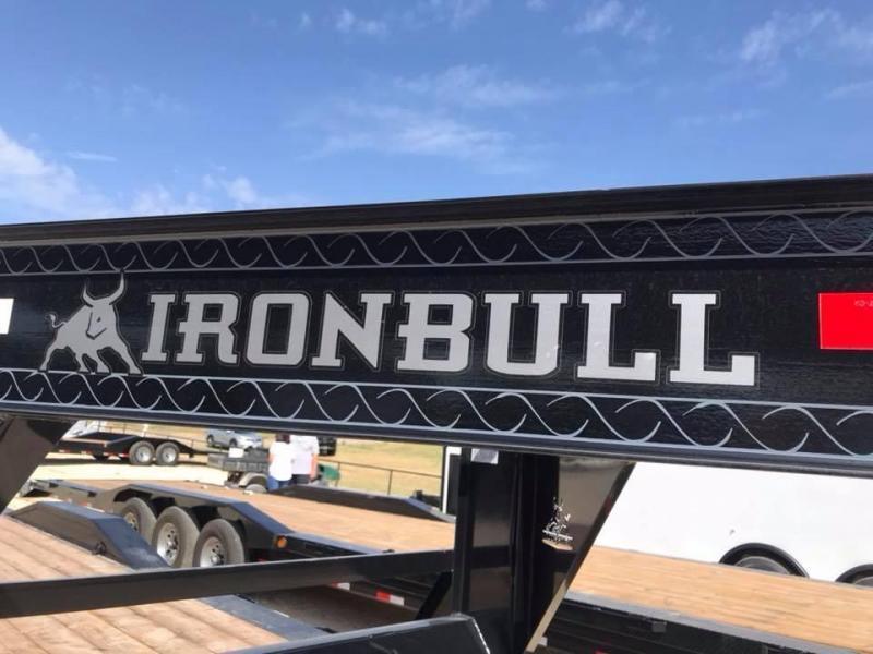2020 Iron Bull 25 GOOSENECK Equipment Trailer DECK OVER FLIP OVER RAMPS