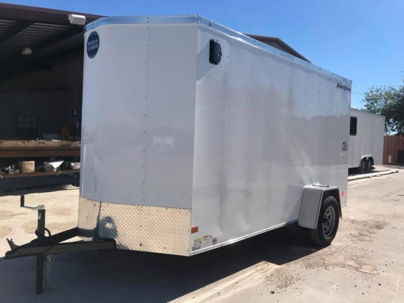 "2019 Wells Cargo 6X12 6'6"" FAST TRACK Enclosed Cargo Trailer"