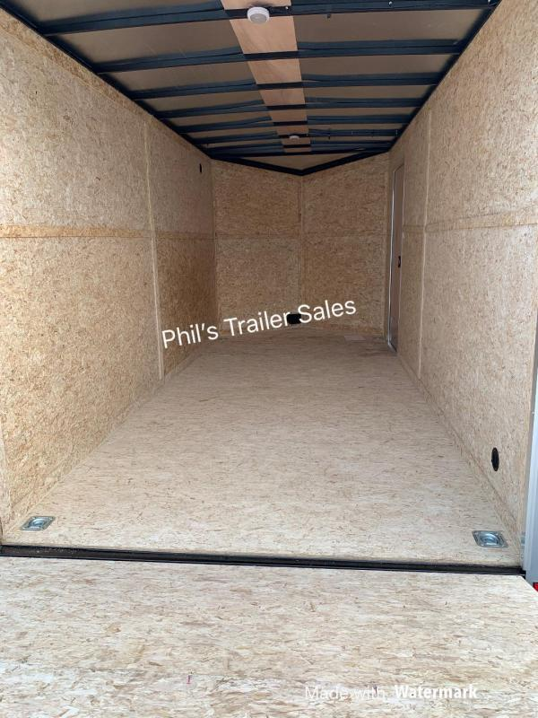 6X10 WELLS CARGO SCREWLESS BLACK OUT  ROAD FORCE  Enclosed Cargo Trailer