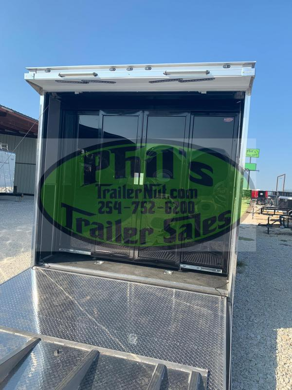 Glass Doors 34' Haulmark EDGE PRO Car / Racing Trailer