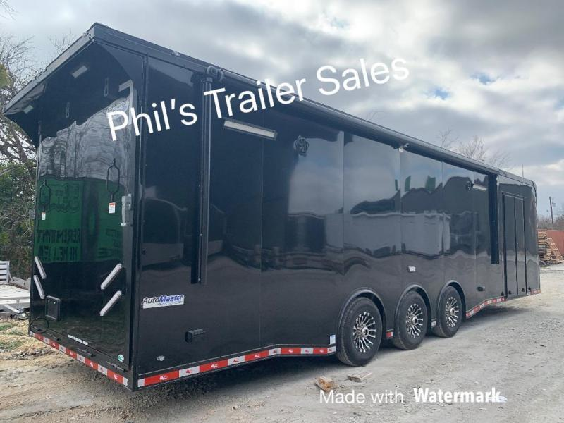 34' BATHROOM  Electric awning AUTO MASTER Car / Racing Trailer enclosed trailer