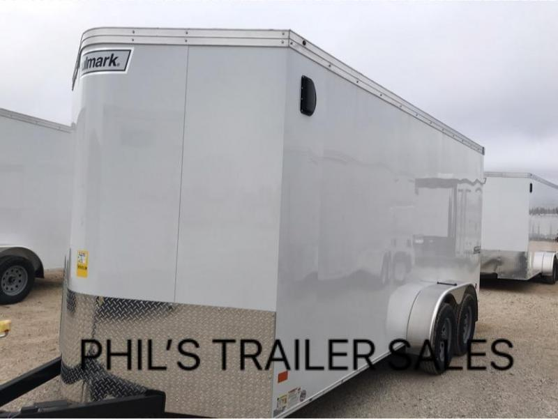 Wells Cargo 7X14 + V  INTERIOR COMMERCIAL GRADE ROAD FORCE Enclosed Cargo Trailer