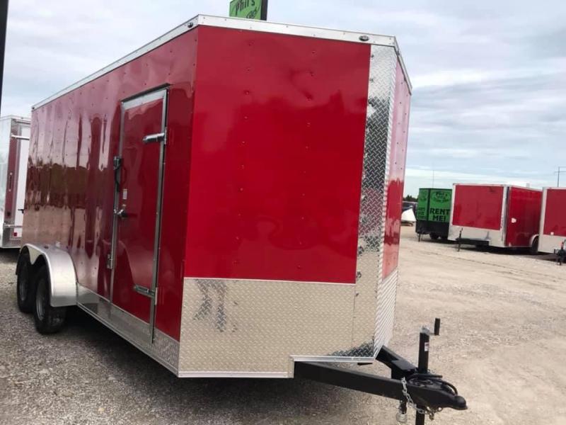 7x16 + 2  7 ft interior ht  EXTRA HT  Enclosed Trailer Enclosed Cargo Trailer