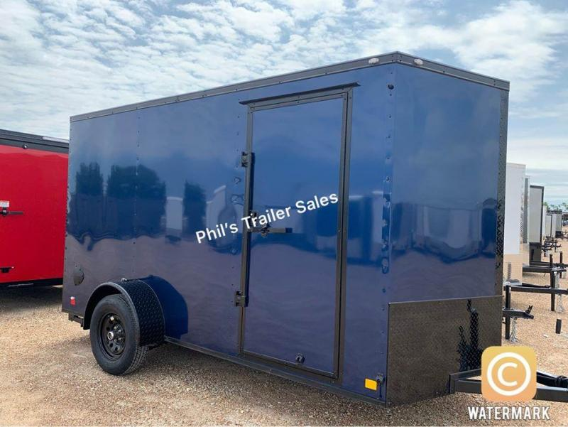 2021 Continental Cargo 6X12 BLUE Enclosed Cargo Trailer