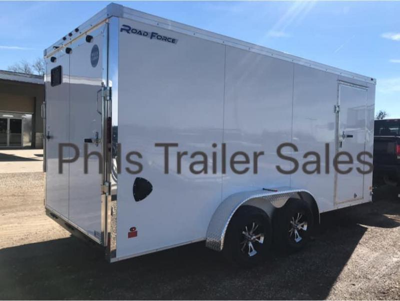 7x16 + 2 slant nose  Wells Cargo Slant Nose Enclosed Cargo Trailer