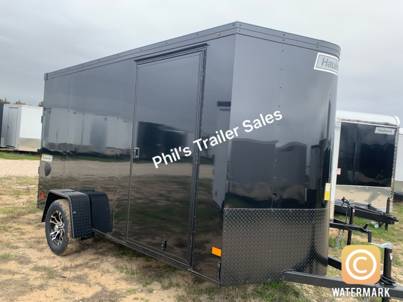 6X10 Haulmark SCREWLESS BLACK OUT  TRANSPORT Enclosed Cargo Trailer