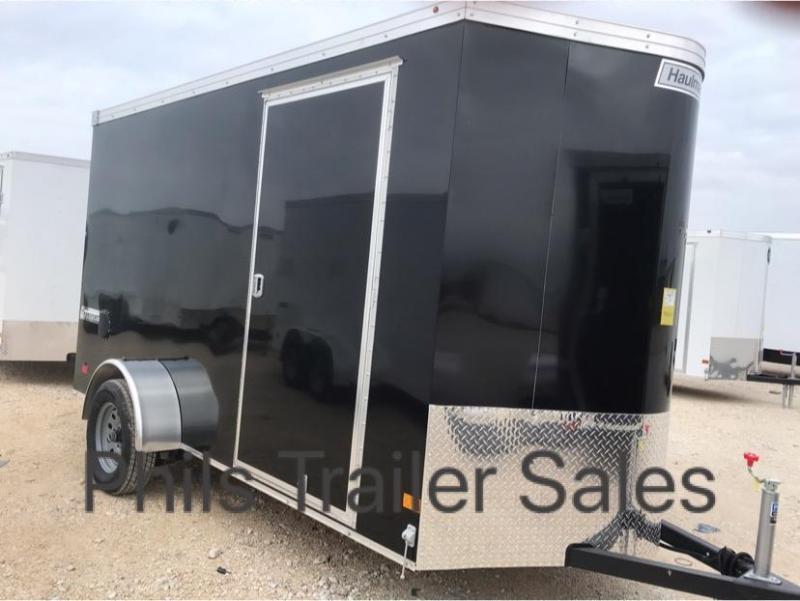 6X10 Haulmark SCREWLESS BLACK OUT  TRANSPORT Enclosed Cargo Trailer