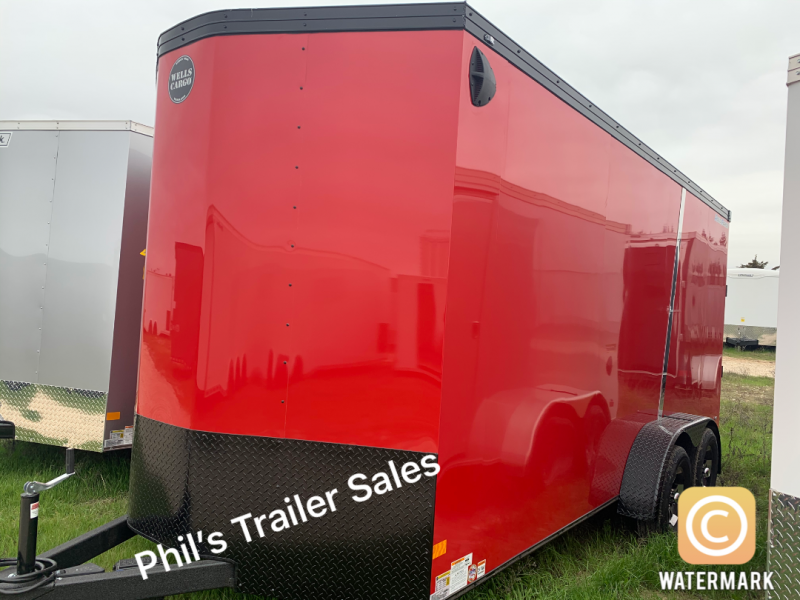 Wells Cargo 7X14 + V  ENCLOSED TRAILER  COMMERCIAL GRADE ROAD FORCE Enclosed Cargo Trailer