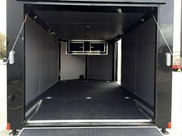Continental Cargo 7x12+ 3 Black out LOW HAULER  motorcycle trailer Enclosed  Motorcycle Trailer