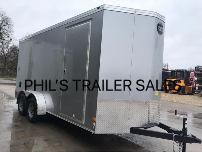 Wells Cargo 7X14 + V 7 FT interior COMMERCIAL GRADE ROAD FORCE Enclosed Cargo Trailer