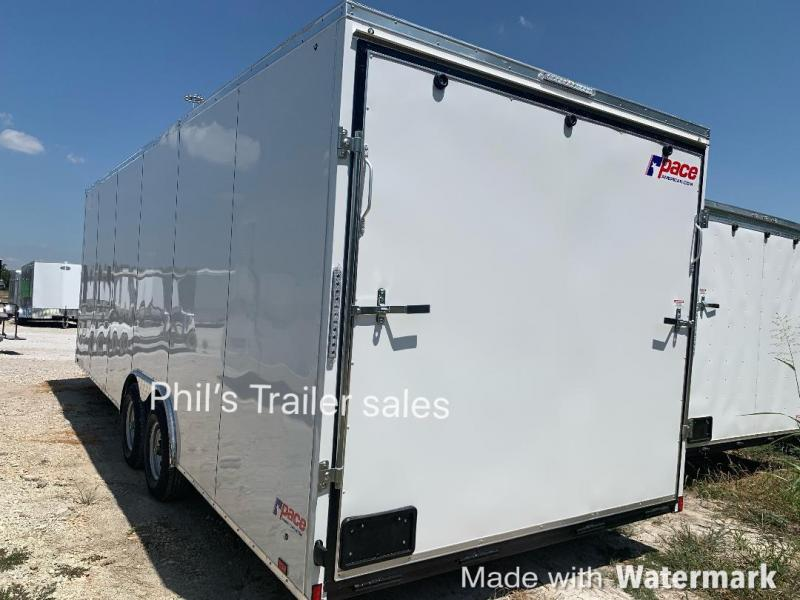 8.5X24 Pace American  7 FT 5200 LB Slant Nose Enclosed Cargo Trailer