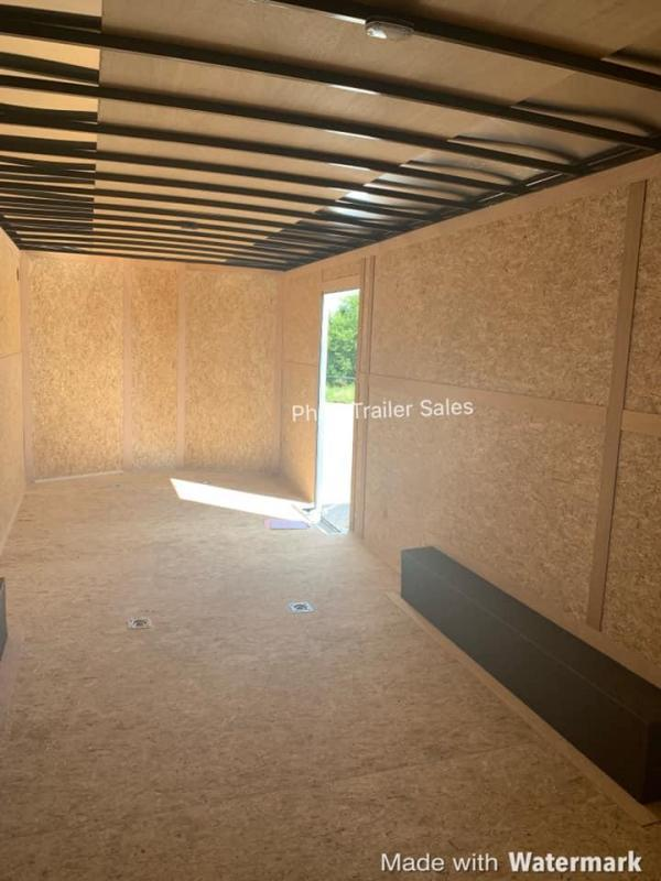 24'  Wells Cargo  BLACK ROAD FORCE 7 FT  WITH ESCAPE DOOR Enclosed Cargo Trailer