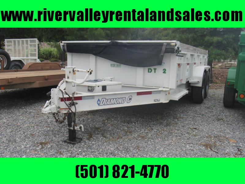 2016 14' x 82 Diamond C Dump Trailer - FOR RENT